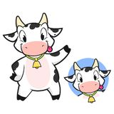 De koe van het beeldverhaal Royalty-vrije Stock Foto's