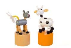 De koe van het stuk speelgoed Stock Foto's