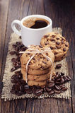 De koekjes en de koffie van de chocolade Stock Fotografie