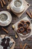 De koekjes en de koffie van de chocolade Royalty-vrije Stock Afbeelding