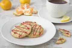 De koekjes en de thee van Kerstmis Royalty-vrije Stock Foto's