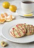 De koekjes en de thee van Kerstmis Royalty-vrije Stock Afbeelding