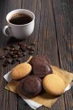 De koekjes en de koffie van de chocolade Stock Foto