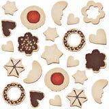 De koekjes naadloze tegel van Kerstmis Stock Afbeeldingen