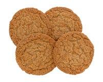 De koekjes van de appeltaartkorst op een witte achtergrond stock foto's