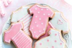 De koekjes van Babyshower Stock Afbeelding
