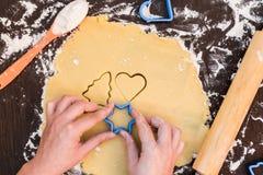 De koekjes van de bakselpeperkoek, koekjes met citroenplakken, citroenkoekjes royalty-vrije stock foto