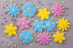 De koekjes van bloemen royalty-vrije stock fotografie