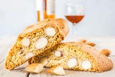 De koekjes van Cantuccini stock foto's