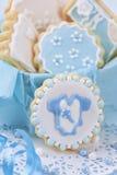 De koekjes van de babyjongen Stock Foto