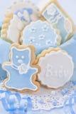 De koekjes van de babyjongen Stock Foto's