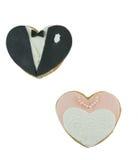 De koekjes van de bruid en van de bruidegom Royalty-vrije Stock Foto