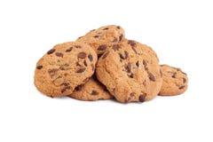 De koekjes van de chocolade die op wit worden geïsoleerd? Royalty-vrije Stock Fotografie
