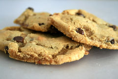 De Koekjes van de Chocolade van de Bloem van de amandel Stock Fotografie