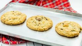De koekjes van de chocoladeamandel Royalty-vrije Stock Fotografie