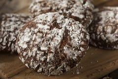De Koekjes van de chocoladekreuk met Gepoederde Suiker Royalty-vrije Stock Foto