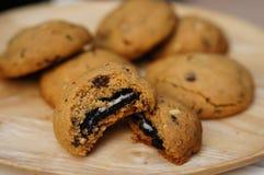 De koekjes van de chocoladeoverbelasting Royalty-vrije Stock Fotografie