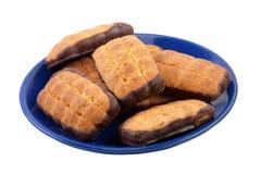 De Koekjes van de Chocoladeschilfer. Stock Foto's