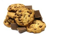De Koekjes van de Chocoladeschilfer Royalty-vrije Stock Foto's