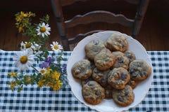 De koekjes van de Chocoladeschilfer Stock Afbeelding
