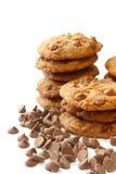 De Koekjes van de Chocoladeschilfer Stock Afbeeldingen