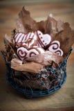 De koekjes van de Dag van Valentine´s Stock Foto