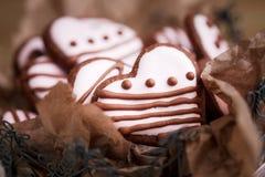 De koekjes van de Dag van Valentine´s Stock Foto's