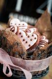 De koekjes van de Dag van Valentine´s Royalty-vrije Stock Afbeelding