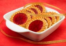 De koekjes van de gelei in een witte kom Royalty-vrije Stock Afbeelding