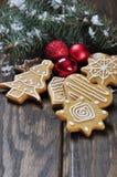 De koekjes van de Gember en van de Honing van Kerstmis Royalty-vrije Stock Afbeelding