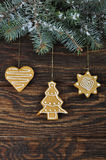 De koekjes van de Gember en van de Honing van Kerstmis Royalty-vrije Stock Foto