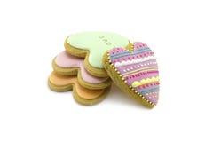 De koekjes van de hartpeperkoek Stock Afbeelding