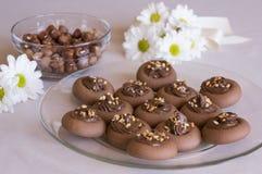De koekjes van de hazelnootroom Royalty-vrije Stock Fotografie
