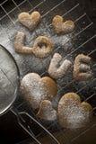 De koekjes van de heerlijke valentijnskaart Stock Foto's