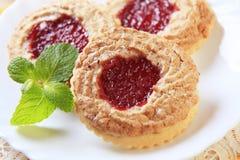 De koekjes van de jam Stock Foto