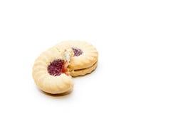 De koekjes van de jam en van de room Royalty-vrije Stock Foto