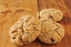 De koekjes van de kersenchocoladeschilfer Stock Foto