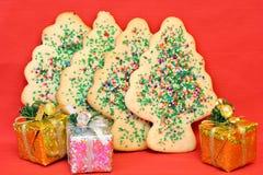 De Koekjes van de Kerstboom van de suiker Royalty-vrije Stock Afbeelding