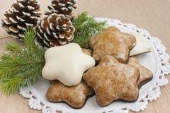 De koekjes van de Kerstmispeperkoek. Royalty-vrije Stock Foto