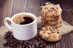 De koekjes van de koffie en van de chocolade Stock Foto