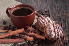 De koekjes van de koffie en van de chocolade Stock Afbeelding