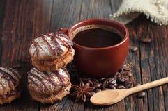 De koekjes van de koffie en van de chocolade Royalty-vrije Stock Foto