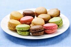 De koekjes van de makaron stock afbeelding