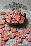 De koekjes van de peperkoek Stock Foto's