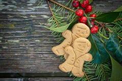 De koekjes van de peperkoek Stock Afbeelding
