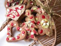 De koekjes van de peperkoek Stock Fotografie