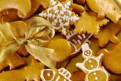 De Koekjes van de Peperkoek van Kerstmis royalty-vrije stock afbeelding