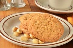 De koekjes van de pindakaasstroopbal stock afbeelding