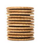 De Koekjes van de Sandwich van de chocolade Royalty-vrije Stock Foto's
