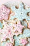 De koekjes van de sneeuwvlok Stock Foto's